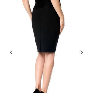A Pea in the Pod Skirts - Black Pencil Maternity Skirt